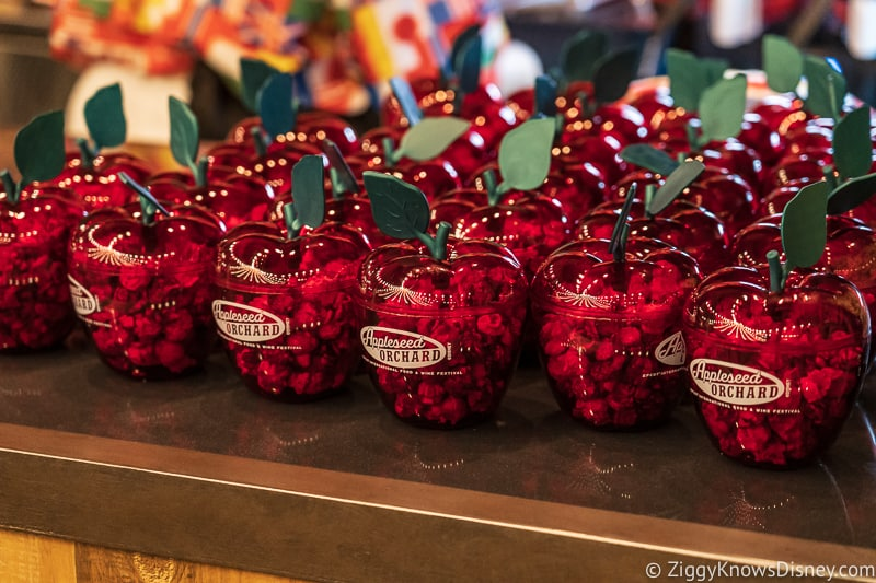 caramel apple popcorn Appleseed Orchard Epcot Food and Wine Festival 2019