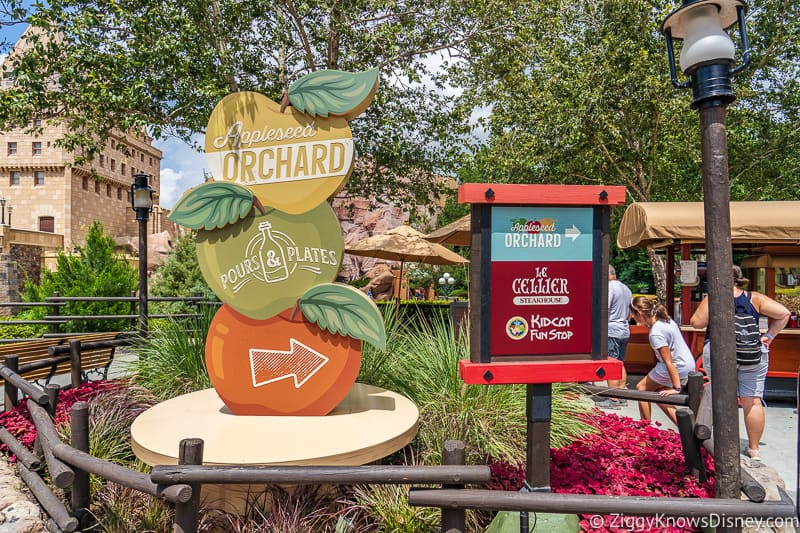 Display Appleseed Orchard Epcot Food and Wine Festival 2019