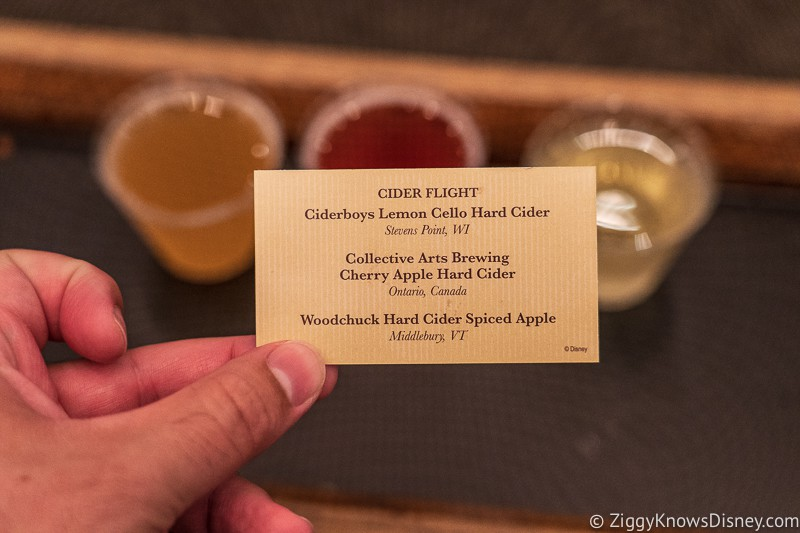 Hard Apple Cider Card Appleseed Orchard Epcot Food and Wine Festival 2019