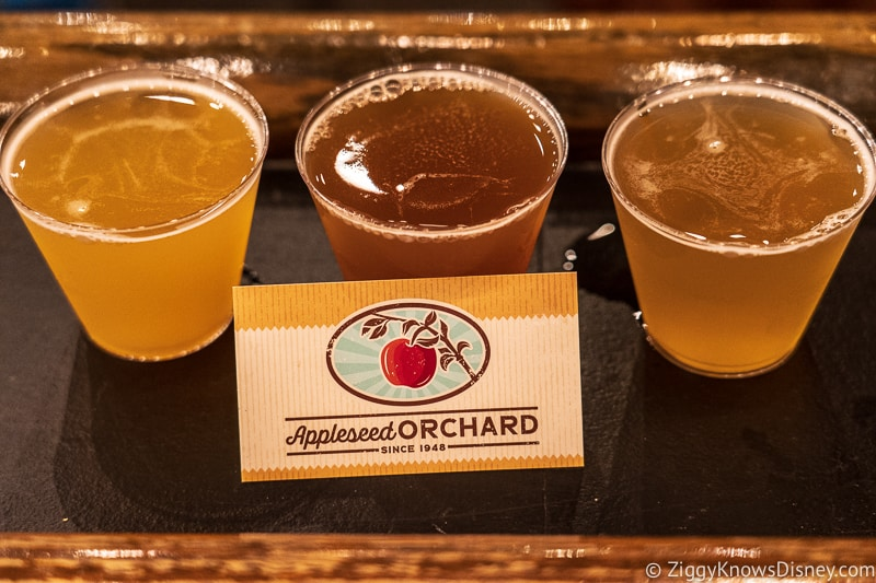 beer flight Appleseed Orchard Epcot Food and Wine Festival 2019