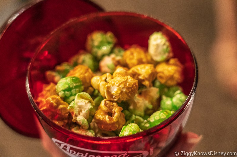 Caramel Apple Popcorn inside Appleseed Orchard Epcot Food and Wine Festival 2019