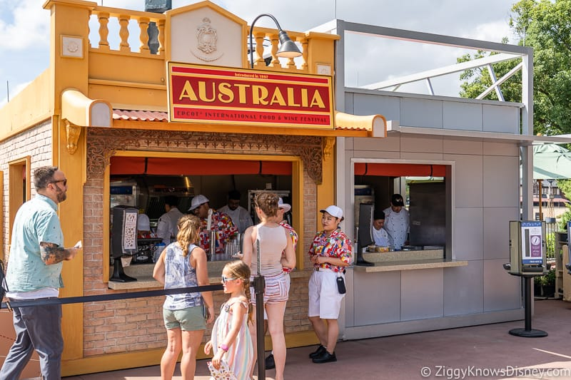 Australia booth Epcot Food and Wine Festival 2019