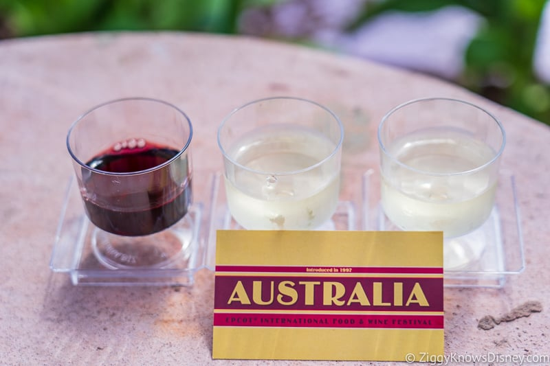 Wine Flight Australia Epcot Food and Wine Festival 2019