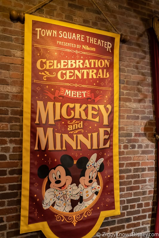 Automatic Cameras replace Mickey and Minnie character town square theater poster
