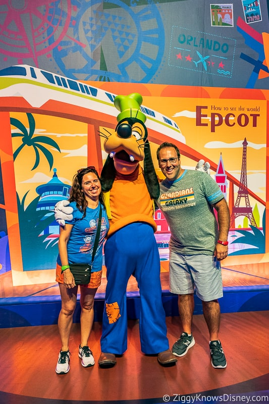 New Character Spot Epcot goofy character greet