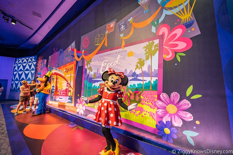 New Character Spot Epcot Minnie Mouse