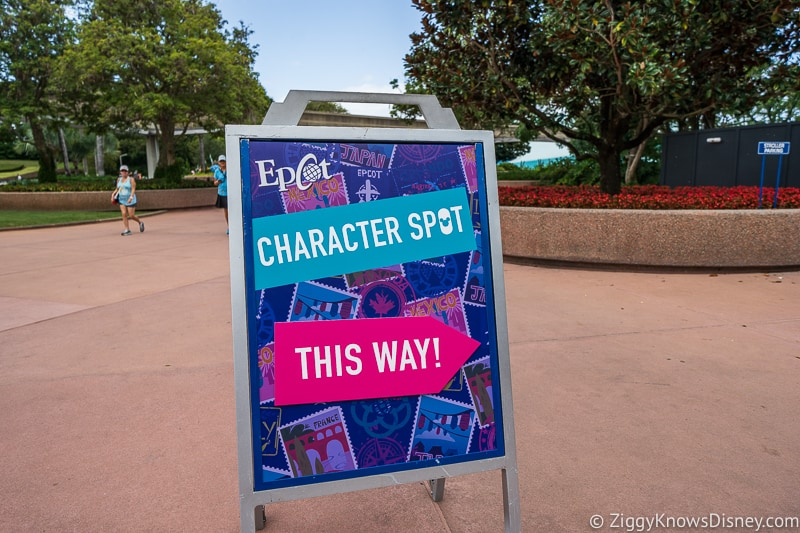 New Character Spot Epcot Sign