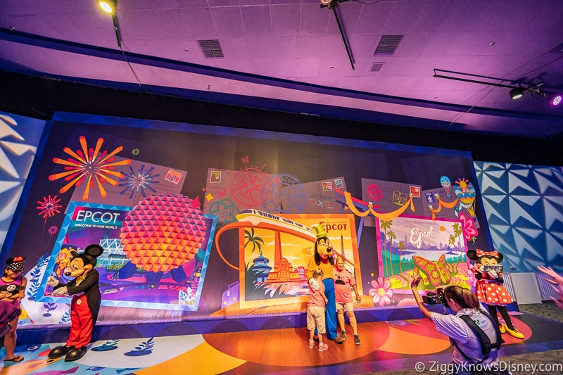 New Character Spot Epcot mickey minnie and goofy