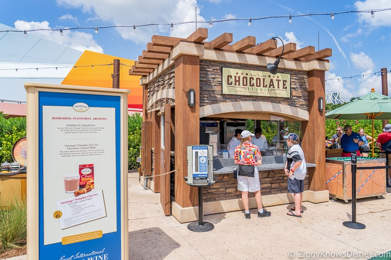 The Chocolate Studio 2019 Epcot Food and Wine Festival booth