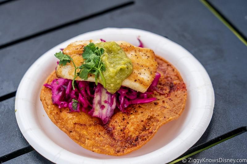 Striped Bass Tostada Coastal Eats 2019 Epcot Food and Wine Festival