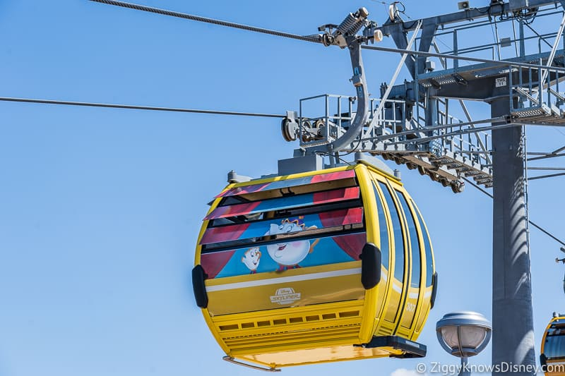 Disney Skyliner Gondolas Characters Beauty and the Beast
