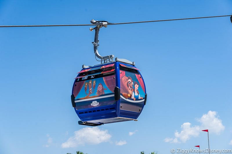 Disney Skyliner Gondolas Characters Beauty and the Beast 2