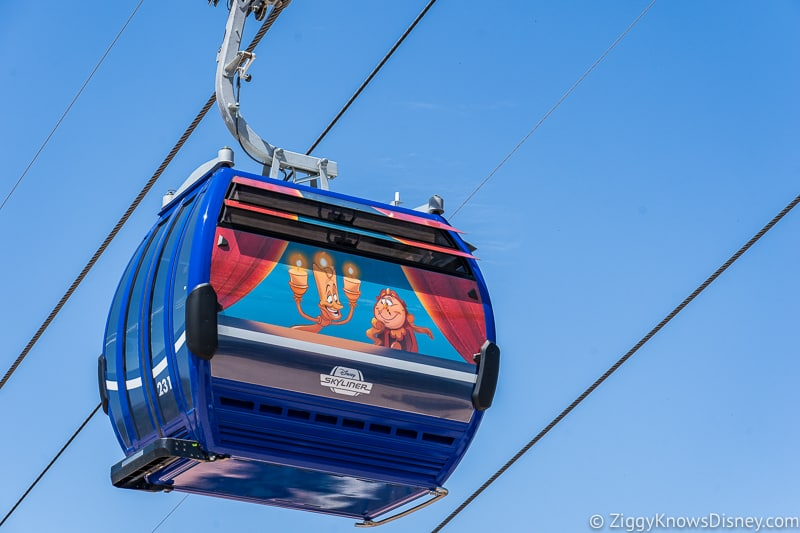 Disney Skyliner Gondolas Characters Beauty and the Beast 3