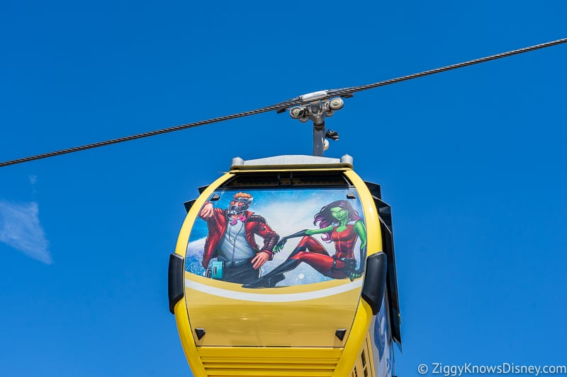 Disney Skyliner Gondolas Characters Guardians of the Galaxy 2