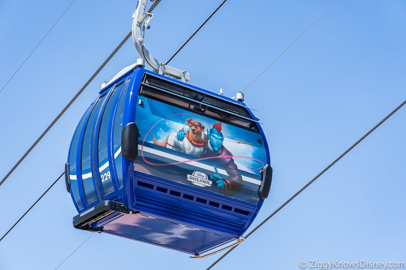 Disney Skyliner Gondolas Characters Guardians of the Galaxy 3