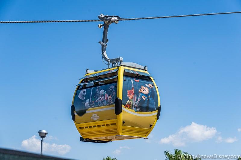 Disney Skyliner Gondolas Characters Zootopia 2