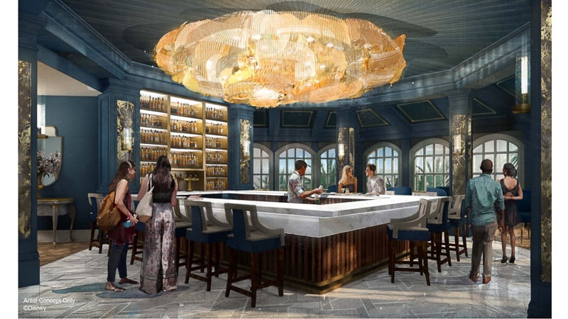 Enchanted Rose Beauty and the Beast Bar concept art
