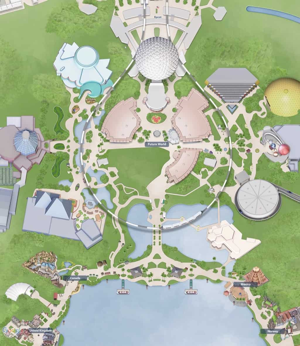 Epcot Digital Map Update Club Cool Removal 2