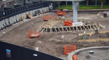 concrete forms Epcot Entrance update October 2019