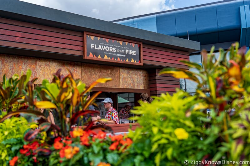 Flavors from Fire 2019 Epcot Food and Wine Festival booth