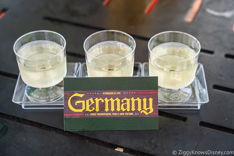 Reisling Wine Flight Germany 2019 Epcot Food and Wine Festival