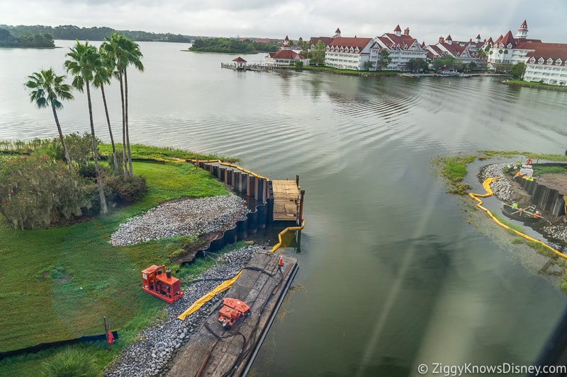 Grand Floridian to Magic Kingdom walkway construction update September 2019