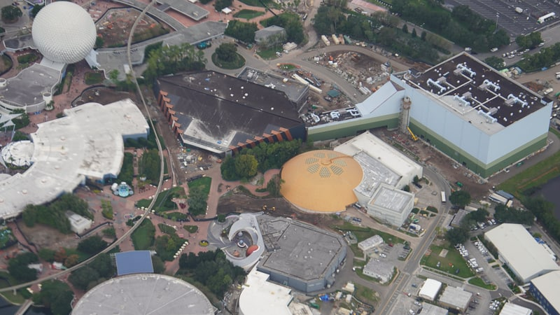 aerial overview of Guardians of the Galaxy Coaster Update November 2019