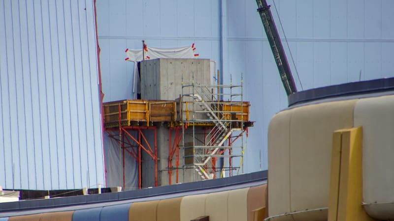 close up of exit shaft Guardians of the Galaxy Coaster November 2019