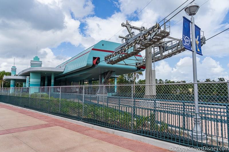 hurricane Dorian Preparations in Walt Disney World Hollywood Studios skyliner station