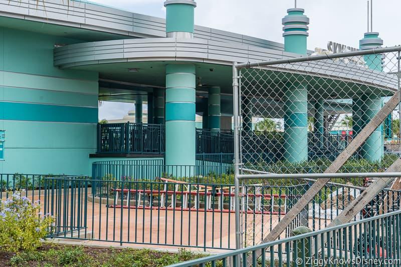 hurricane Dorian Preparations in Walt Disney World Hollywood Studios skyliner inside