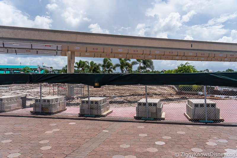 hurricane Dorian Preparations in Walt Disney World magic kingdom entrance 3