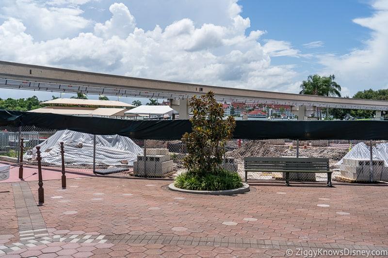hurricane Dorian Preparations in Walt Disney World magic kingdom entrance 2