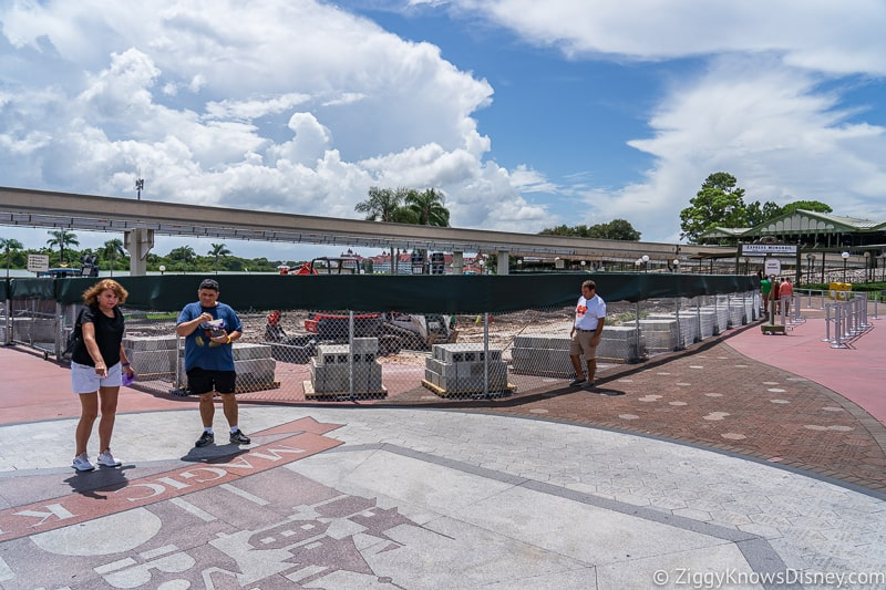 hurricane Dorian Preparations in Walt Disney World magic kingdom entrance 1