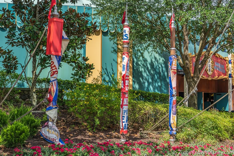 hurricane Dorian Preparations in Walt Disney World banners