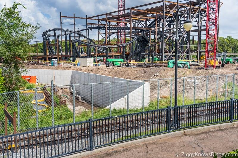 hurricane Dorian Preparations in Walt Disney World tron fence