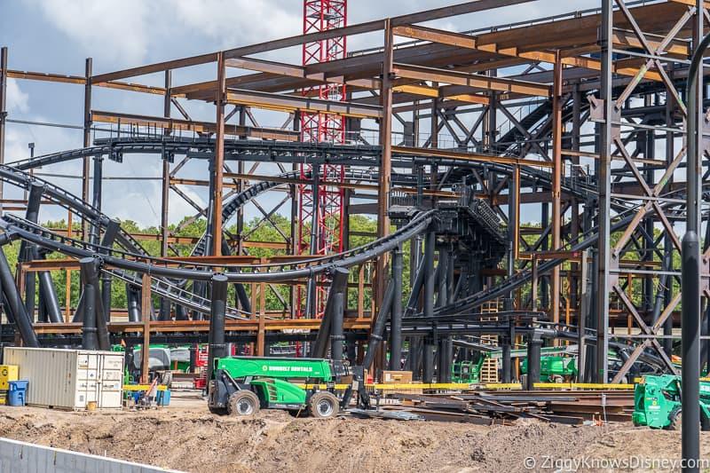 hurricane Dorian Preparations in Walt Disney World tron track