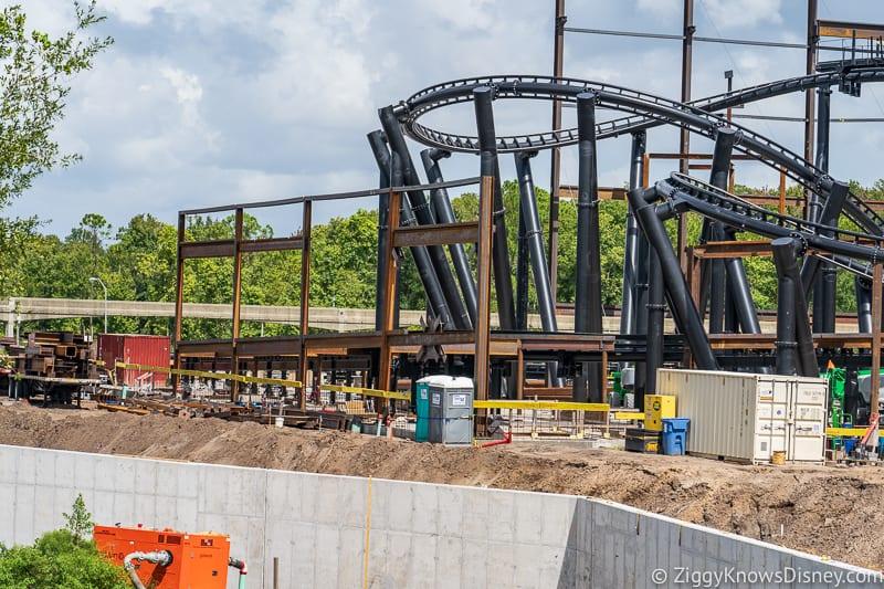 hurricane Dorian Preparations in Walt Disney World tron wall