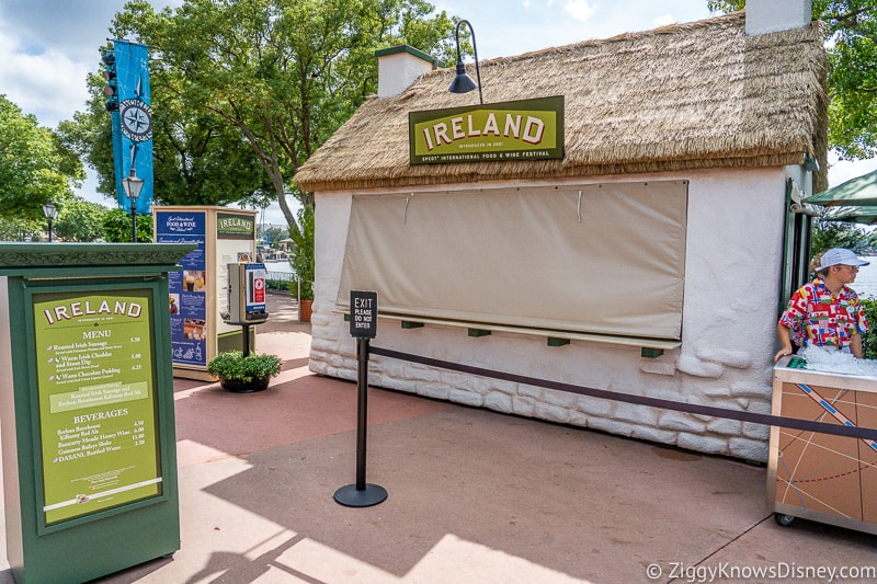 Ireland 2019 Epcot Food and Wine Festival booth