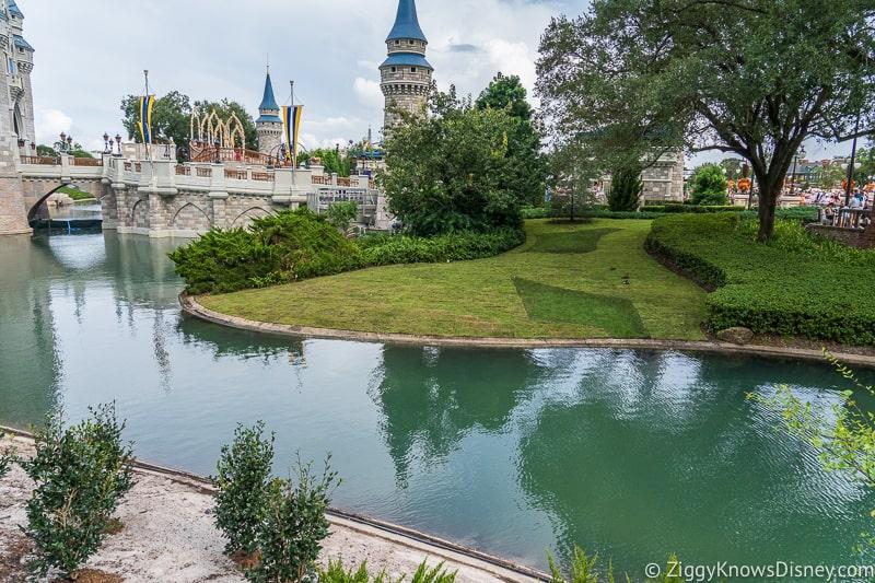 Cinderella Castle Moat Filled in Magic Kingdom