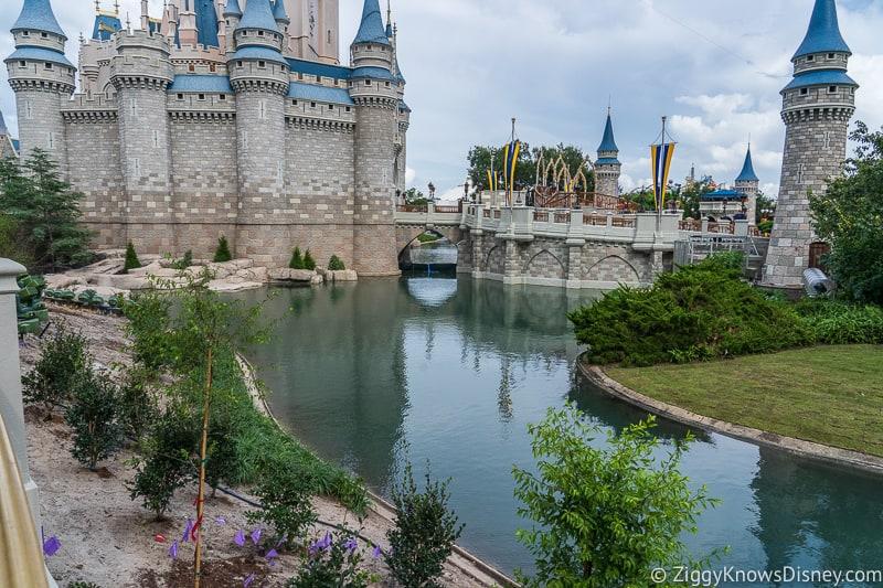 Cinderella Castle Moat Filled in Magic Kingdom Cinderella Castle