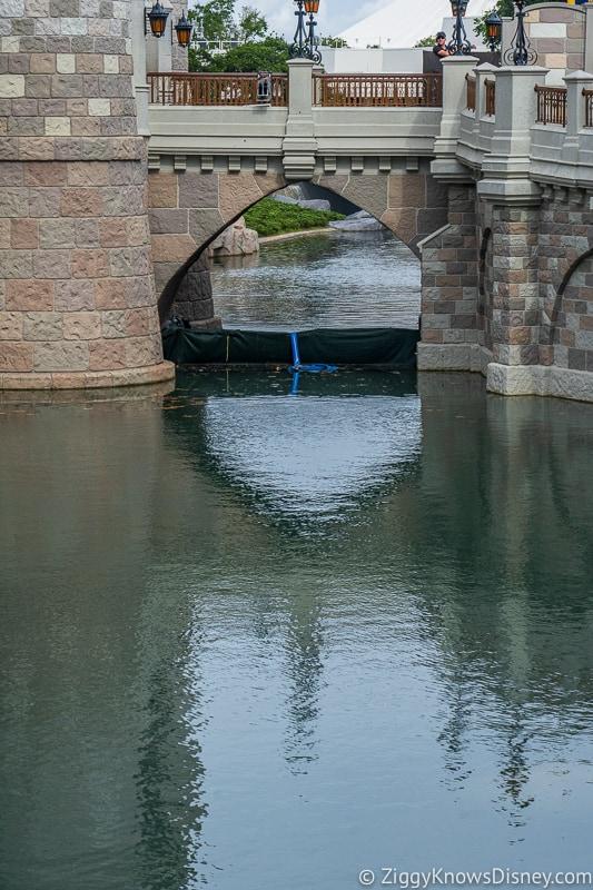 Cinderella Castle Moat Filled in Magic Kingdom dam