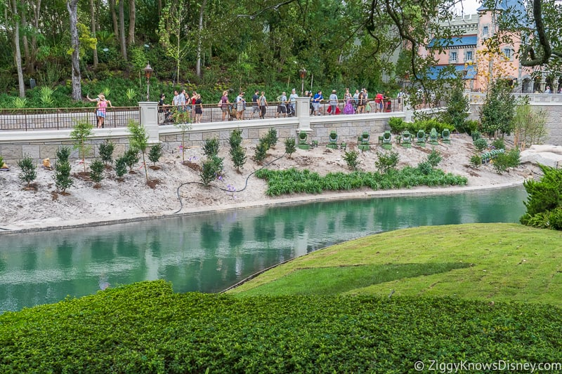 Cinderella Castle Moat Filled in Magic Kingdom new pathway