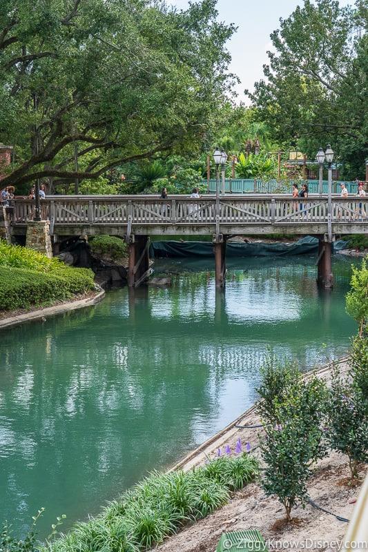 Cinderella Castle Moat Filled in Magic Kingdom bridge