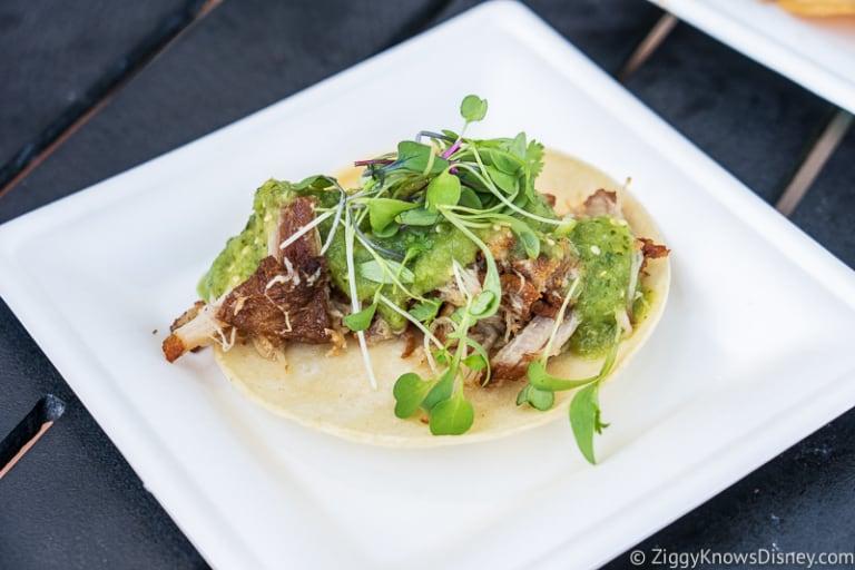 Taco de Puerco Mexico 2019 Epcot Food and Wine Festival