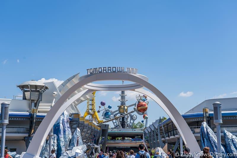 New Tomorrowland Sign in Disney's Magic Kingdom