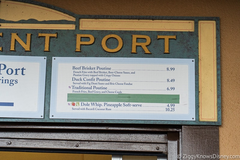 menu Refreshment Port 2019 Epcot Food and Wine Festival