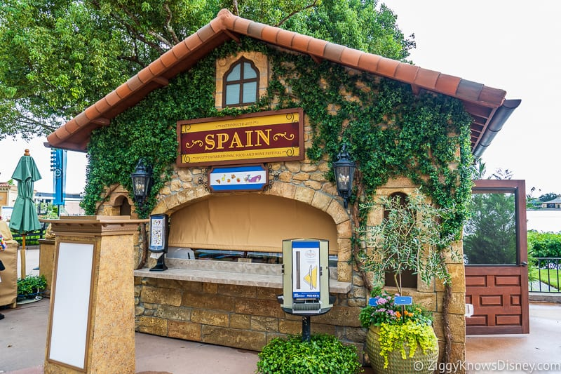 Spain 2019 Epcot Food and Wine Festival booth