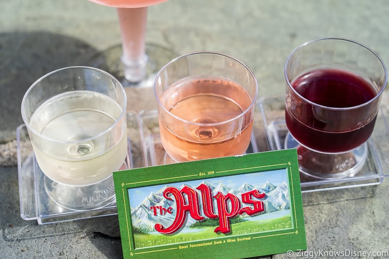Wine Flight The Alps Epcot Food and Wine Festival 2019