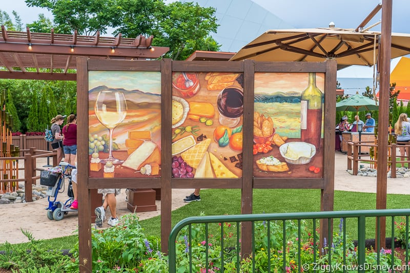 Wine and Dine Studio 2019 Epcot Food and Wine Festival display board