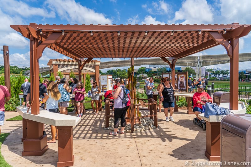 seating area Wine and Dine Studio 2019 Epcot Food and Wine Festival